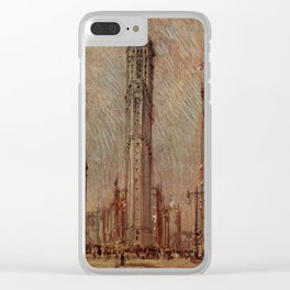 Pennell, Joseph (1857-1926) - The New New York 1909 - New York Times Building Clear iPhone Case