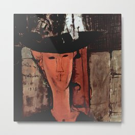 "Amedeo Modigliani ""Madame Pompadour"" Metal Print"