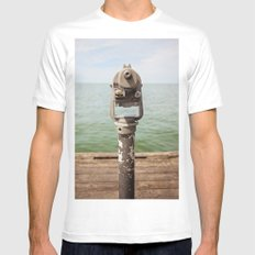 view to the bay Mens Fitted Tee White MEDIUM