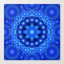 Lapis Crown Mandala Canvas Print