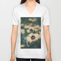 vintage floral V-neck T-shirts featuring Floral by Pure Nature Photos