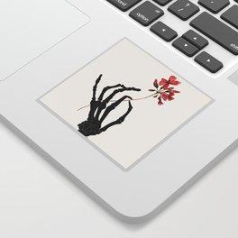 Skeleton Hand with Flower Sticker