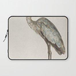 Great Blue Heron Ardea cinerea (1596-1610) by Anselmus Botius de Boodt Laptop Sleeve