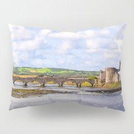 Thomond Bridge and King Johns Castle Pillow Sham