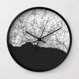 Lausanne Map Gray Wall Clock