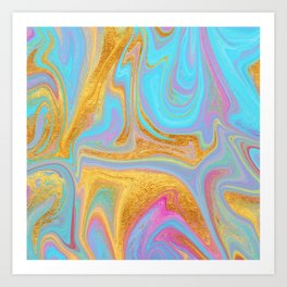 Candy Addict Colorful Marble Abstract Art Print