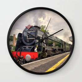 Royal Scot and Britannia at Exeter St Davids  Wall Clock