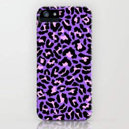 Neon leopard iPhone Case