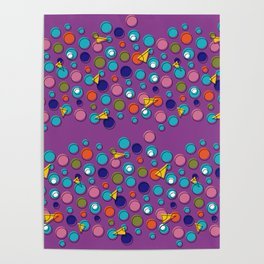 Abstract geo shapes Poster