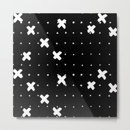 Cosine White on Black Metal Print