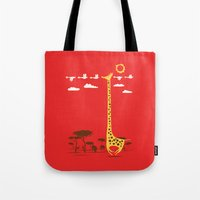 ilovedoodle Tote Bags featuring I'm Like A Bird by I Love Doodle