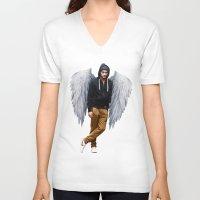 zayn V-neck T-shirts featuring Zayn by gutsngore