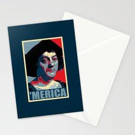 Columbus Merica Propaganda Pop Art Stationery Cards