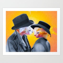 Frankly I Don't Give A Meow Art Print