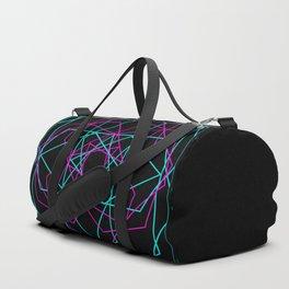 Geometric Neon Duffle Bag