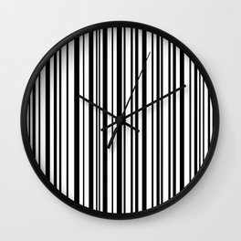 Lines,  Black & White Wall Clock