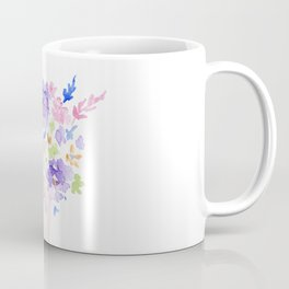 GIRL HOLDING BOUQUET OF FLOWERS / THANK YOU / CONGRATULATIONS / BIRTHDAY Coffee Mug