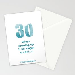 AgeIsJustANumber-30-SkyBurstB Stationery Cards