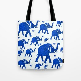 ELEPHANT BLUE MARCH Tote Bag