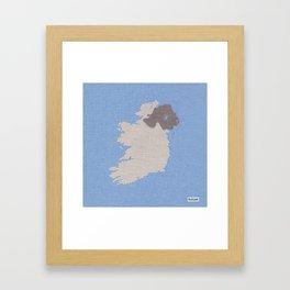 Ireland Linen Fabric Map Art Framed Art Print