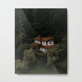 Mysterious Forest House – Landscape Photography Metal Print