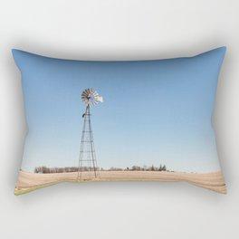 Windmill and Blue Skies Rectangular Pillow