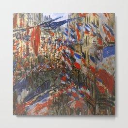 """Claude Monet """"The Rue Saint Denis, 30th of June 1878"""" Metal Print"""