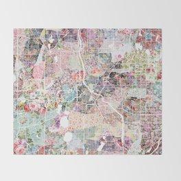Minneapolis map - Landscape Throw Blanket