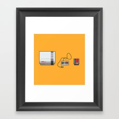 #38 Nintendo Entertainment System Framed Art Print