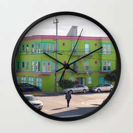 Colorful San Francisco Building, San Francisco Photography, SF Houses, The Sunset District San Francisco Wall Clock