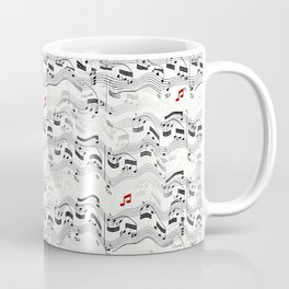 Wavy Musical Pattern Coffee Mug