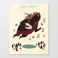 banjo Canvas Prints featuring banjo-kazooie by Louis Roskosch