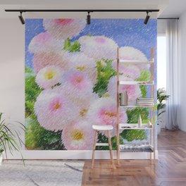Snowball Bellis Daisy Bouquet Still Life #2 by Jeanpaul Ferro Wall Mural