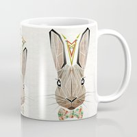 rabbit Mugs featuring rabbit by Manoou
