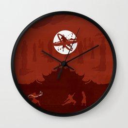 Avatar Book Fire - Version 2 Wall Clock