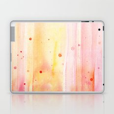 Pink Orange Rain Watercolor Texture Splatters Laptop & iPad Skin