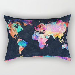 World map Rectangular Pillow