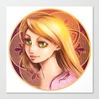 rapunzel Canvas Prints featuring Rapunzel by Vincent Vernacatola