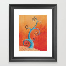 Raining Fire Framed Art Print