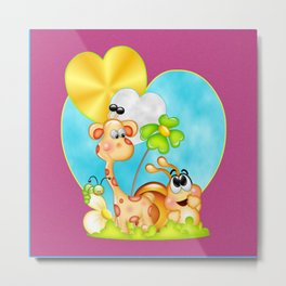 The Love of Friendship Metal Print
