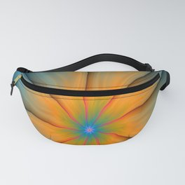 Cracked in Blue Orange and Green Fanny Pack
