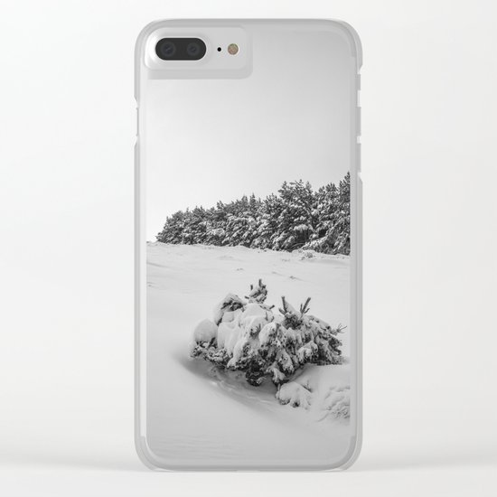 """Sierra Nevada"" . Into the woods. BW Clear iPhone Case"