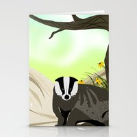 badger Stationery Cards featuring Badger by TailorMade:ART