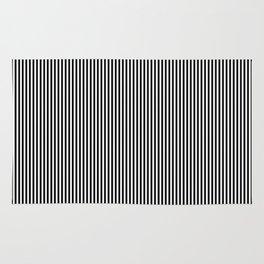 Black & White Vertical Stripes Rug