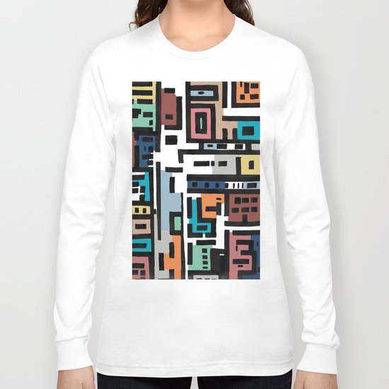 Spring in Urban Abstract Long Sleeve T-shirt