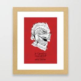 Italo Calvino   Le chevalier inexistant Framed Art Print