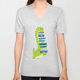 The Geek Brachiosaurus Unisex V-Neck