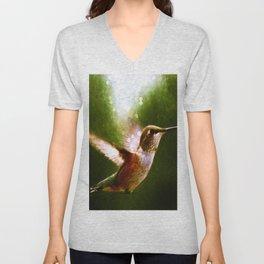 Moonlit Iridescence Hummingbird Unisex V-Neck