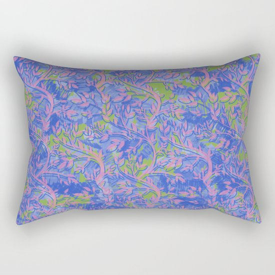 Shoots, Stems and Leaves abstract Rectangular Pillow