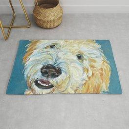 Stanley the Goldendoodle Dog Portrait Rug